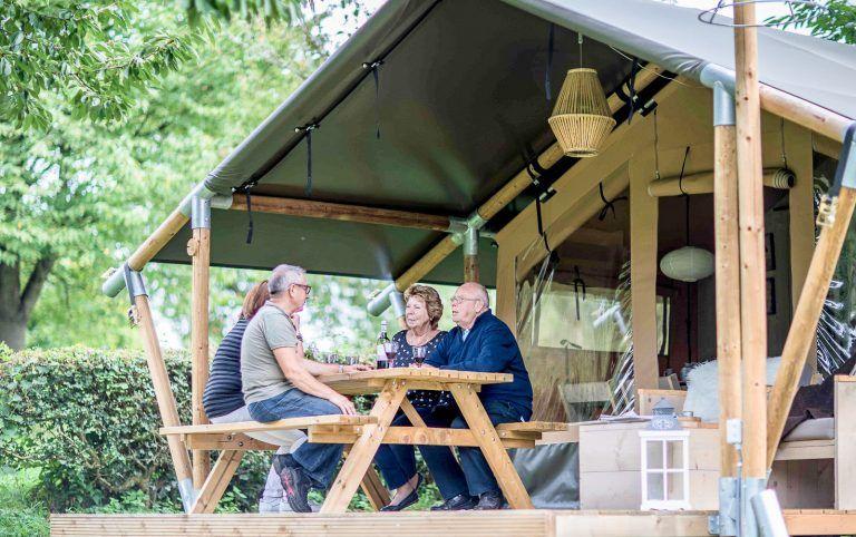 Genieten voor de safari tent Camping Landzicht_