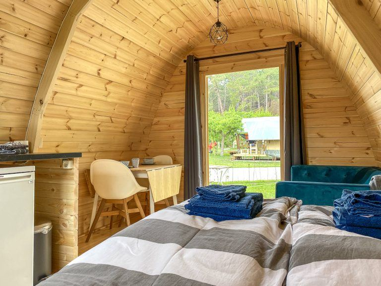 Interieur camping pod Helmdune op Terschelling_