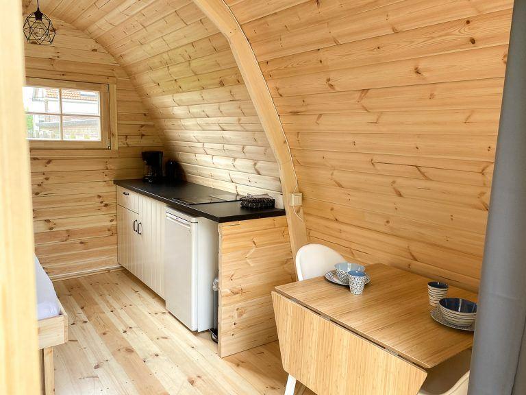 Keuken Camping pod Helmdune op Terschelling_